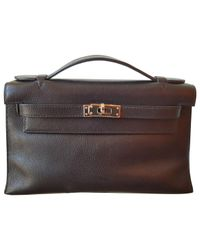 Hermès Black Kelly Clutch Leather Clutch Bag