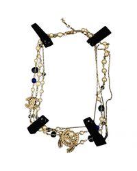 Chanel Metallic Halsketten