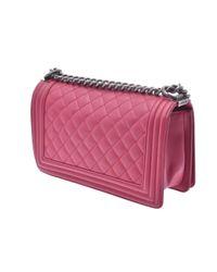 Chanel Pink Boy Leder Handtaschen