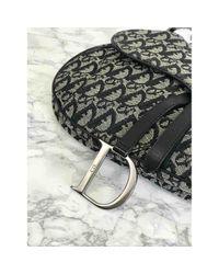 Dior Black Saddle Leinen Handtaschen