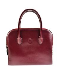 Cartier Red Leather Tote
