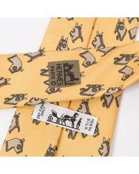 Hermès Seide Krawatten in Yellow für Herren