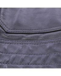 Neil Barrett Blue Leder Jacken