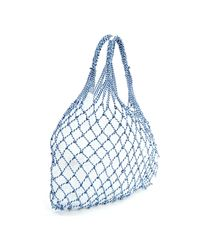 Céline Blue Sac Filet Leinen Handtaschen