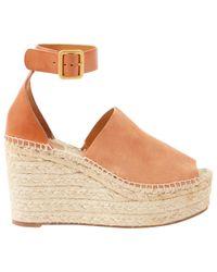 Chloé - Natural Sandal - Lyst