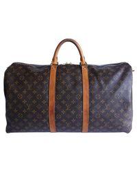 Louis Vuitton - Brown Keepall Cloth 48h Bag - Lyst