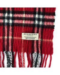Pañuelos en cachemira rojo Burberry de color Red