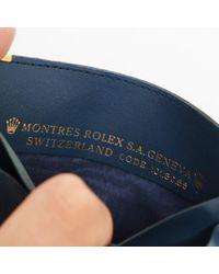 Petite maroquinerie en Cuir Bleu Rolex pour homme en coloris Blue