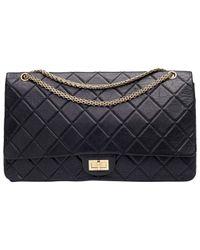 Chanel Blue 2.55 Leder Handtaschen