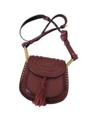 Chloé Purple Pre-owned Hudson Leather Crossbody Bag
