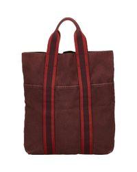 Hermès Red Toto Leinen Handtaschen