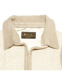 Loro Piana Natural \n Beige Silk Jacket