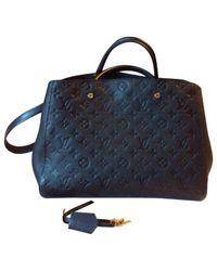 Louis Vuitton Black Montaigne Leather Handbag