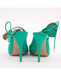 Aquazzura Green Leder Pumps
