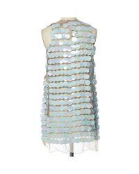 Christopher Kane Blue Silk Dress