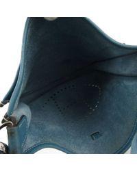 Bolsa de mano en cuero azul Evelyne Hermès de color Blue