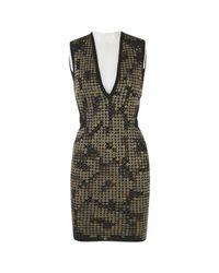 Roberto Cavalli Black Wolle Mini Kleid