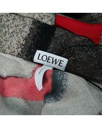 Loewe Red Multicolour Silk Dress