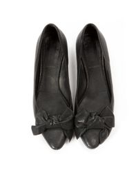 Miu Miu \n Black Leather Ballet Flats