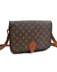 Louis Vuitton Brown Leinen Cross Body Tashe