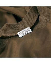 Camisa en seda marrón Brunello Cucinelli de color Brown