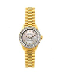 Rolex Metallic Lady Datejust 26mm Gelbgold Uhren