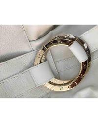 BVLGARI \n White Leather Handbag
