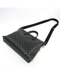 Bolsos en lona antracita Louis Vuitton de hombre de color Black
