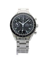 Reloj en acero negro Speedmaster Omega de hombre de color Black