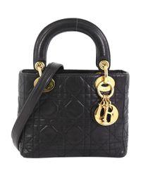 Dior Black Leder Handtaschen