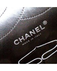 Chanel Black Timeless/classique Lackleder Handtaschen