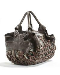 Loewe Brown Leather Handbag