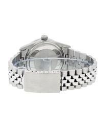 Reloj en acero plateado Datejust 36mm Rolex de hombre de color Metallic