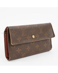 Piccola pelletteria in tela marrone di Louis Vuitton in Brown