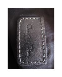 Bolsa clutch en lona negro Saddle Dior de color Black