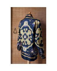 Camisas en seda multicolor \N Hermès de hombre de color Blue