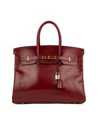 Borsa a mano in pelle bordeaux Birkin 35 di Hermès in Red