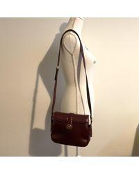Bolsa de mano en cuero burdeos Céline de color Multicolor