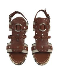 Proenza Schouler Brown Leather Sandal