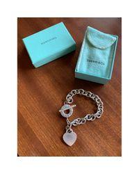 Tiffany & Co Metallic Return To Tiffany Silver Bracelet
