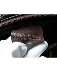 Lanvin Brown Bowlingtasche