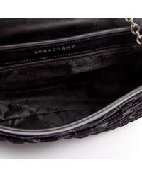 Longchamp Black Samt Cross Body Tashe