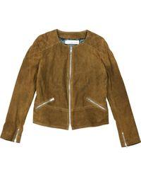 Golden Goose Deluxe Brand Natural Camel Suede Jacket for men