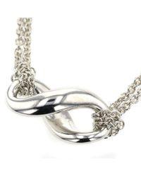 Tiffany & Co Metallic Tiffany Infinity Silber Colliers