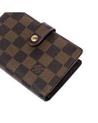 Portafoglio in tela marrone di Louis Vuitton in Brown