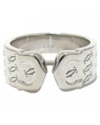 Cartier - Pre-owned C White Gold Ring - Lyst