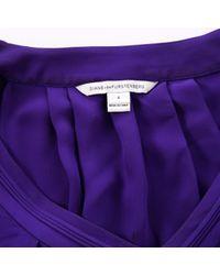 Diane von Furstenberg Purple Silk Top