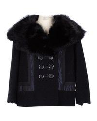Louis Vuitton Black Wolle Blouson