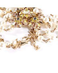Chanel Metallic Ecru Metal Long Necklace