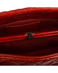 Borsa a mano in pelle rosso Mademoiselle di Chanel in Red